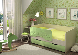Кровать детская Алиса КР-813 1800 зеленый металлик