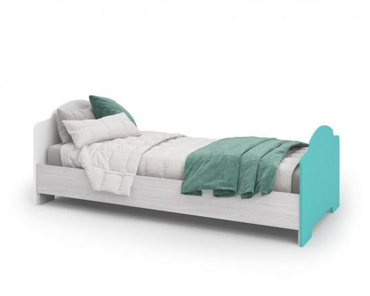 Кровать Миа КР-052 дуб анкор - белый - бирюза