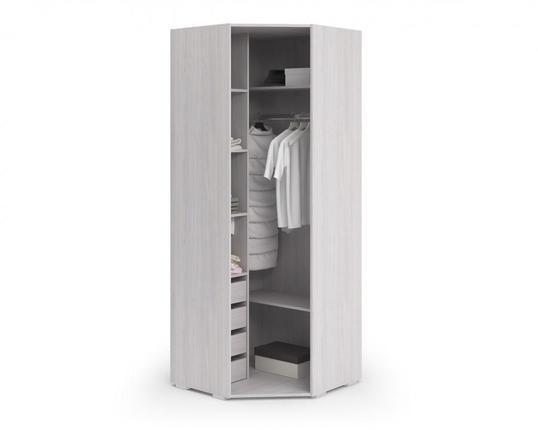 Шкаф угловой Миа ШУ-051 дуб анкор - белый - бирюза