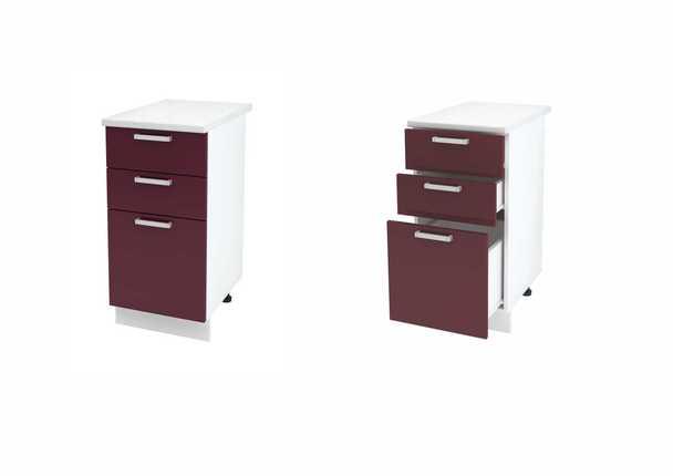 Шкаф нижний с 3мя ящиками Линда ШН3Я 400