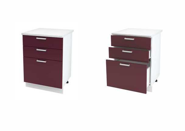 Шкаф нижний с 3мя ящиками Линда ШН3Я 600