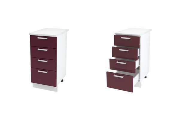 Шкаф нижний с 4мя ящиками Линда ШН4Я 400