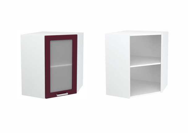 Шкаф верхний угловой со стеклом Линда ШВУС 600