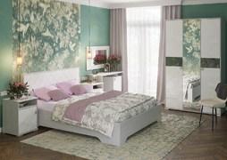 Модульная спальня Сальма дуб анкор - белый глянец композиция-4