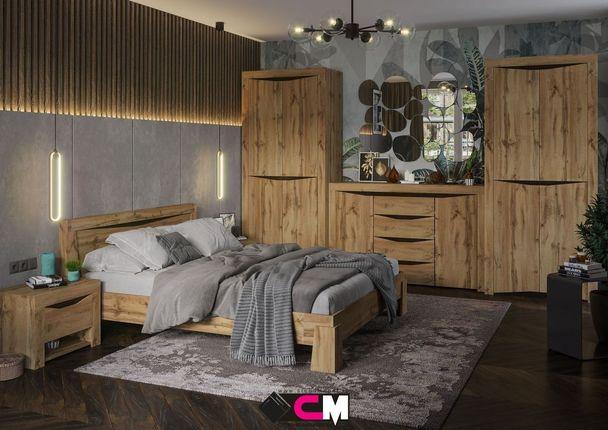 Модульная спальня Паола дуб крафт золотой комплект-1
