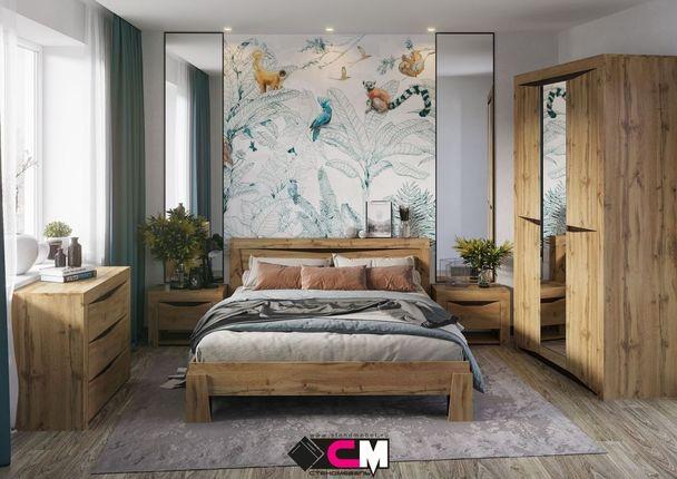 Модульная спальня Паола дуб крафт золотой комплект-2