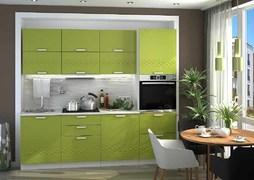 Модульная кухня серии Глория МДФ олива металлик