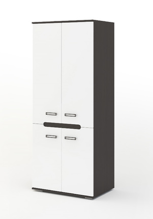 Шкаф 2-х створчатый Града венге - белый глянец