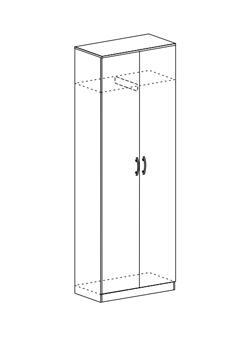 Шкаф со скалкой Макарена ШК 302 шимо темный - шимо светлый