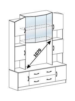 Центральная секция ТВ 301 Макарена венге - белфорт