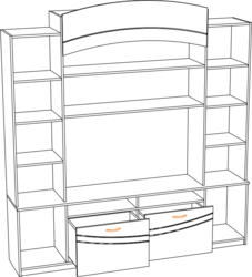 Центральная секция ТВ 713 Мальта белфорт - венге