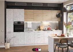 Модульная кухня серии Бетон МДФ бетон снежный