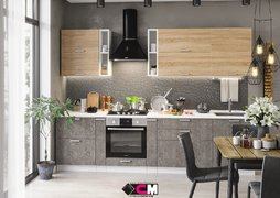 Кухня Бетон МДФ Дуб сонома-Бетон темный Комплект 2,9м