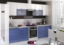 Модульная кухня серии Ксения МДФ сизый
