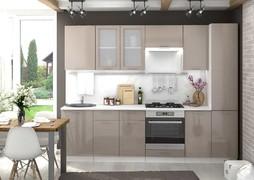 Модульная кухня серии Ксения МДФ кофе с молоком