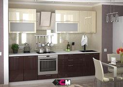 Модульная кухня серии Ксения МДФ шоколад