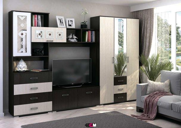 Модульная гостиная Яна дуб белфорт - венге комплект-1