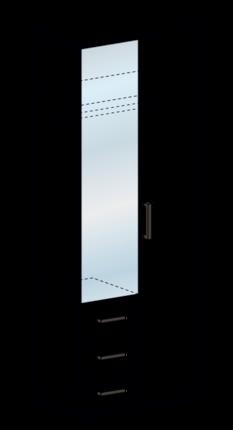 Шкаф со скалкой ШК 751 Яна венге - белфорт
