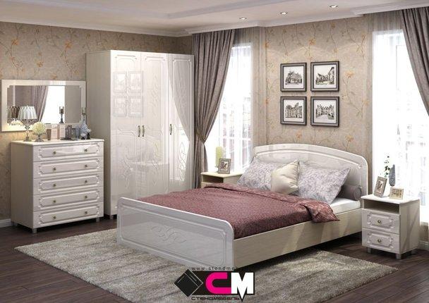 Модульная спальня Виктория дуб белфорт - жемчуг комплект-1