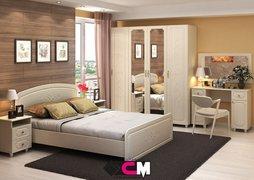 Модульная спальня Виктория дуб белфорт - жемчуг комплект-2