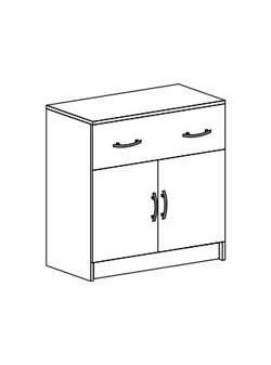 Комод с 1 ящиком и створками Бася КМ-552 М венге - белфорт