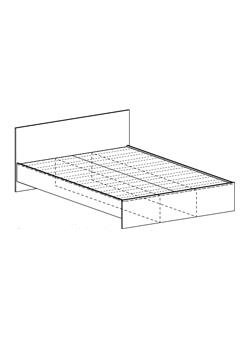 Кровать Бася КР-556 1200 шимо темный - шимо светлый