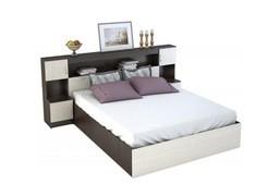 Кровать с прикроватным блоком Бася КР 552 венге - дуб белфорт