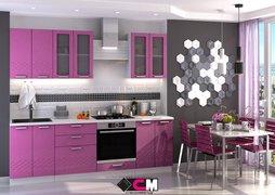 Кухня Глория МДФ Фиолетовый металлик Комплект 2,4м