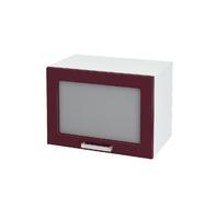 Шкаф верхний под вытяжку со стеклом Ксения ШВГС 500 МДФ олива