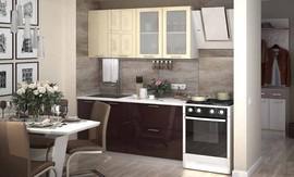 Кухня Ксения МДФ Ваниль-Шоколад Комплект 1,6м