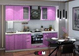 Кухня Линда МДФ Фиолетовый металлик Комплект 2,0м