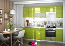 Кухня Линда МДФ олива металлик комплект 2,6м