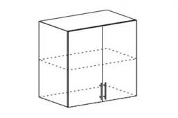 Шкаф верхний Мария ШВ 800 МДФ дуб белый