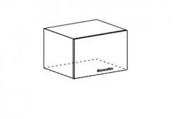 Шкаф верхний под вытяжку Мария ШВГ 600 МДФ дуб белый