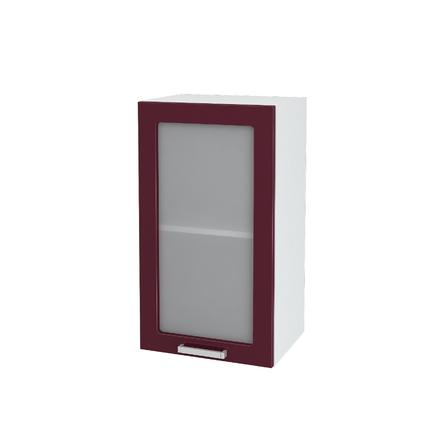 Шкаф верхний со стеклом Мария ШВС 400 МДФ дуб белый