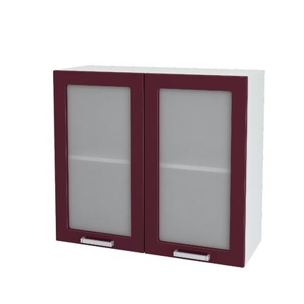 Шкаф верхний со стеклом Мария ШВС 800 МДФ крем