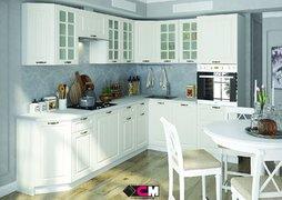 Кухня угловая Мария МДФ дуб белый комплект 2,7х2м