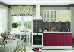 Кухня Мария МДФ крем - бордо комплект 1,6 м