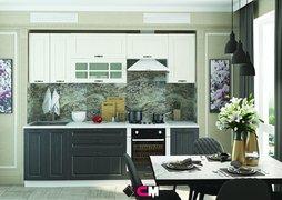 Кухня Мария МДФ дуб белый - графит комплект 2,4м