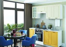 Кухня Мария МДФ крем - желтый Комплект 1,8 м