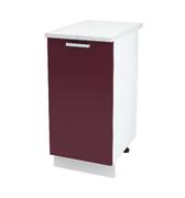 Шкаф нижний Линда ШН 400 МДФ фиолетовый металлик