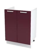 Шкаф нижний под мойку Линда ШНМ 800 МДФ фиолетовый металлик