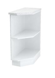 Шкаф нижний торцевой Дина ШНПУ 300 L/R белый