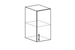 Шкаф верхний Линда ШВ 400 МДФ бирюза металлик