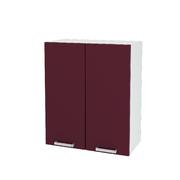 Шкаф верхний Линда ШВ 600 МДФ белый металлик