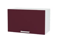 Шкаф верхний под вытяжку Линда ШВГ 600 МДФ белый металлик