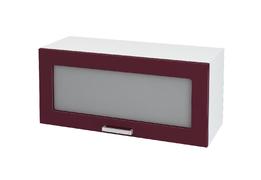 Шкаф верхний под вытяжку со стеклом Линда ШВГС 800 МДФ белый металлик
