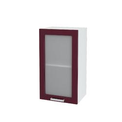 Шкаф верхний со стеклом Юлия ШВС 400 МДФ Дуб сонома