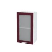Шкаф верхний со стеклом Дина ШВС 400 Лайм принт