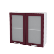 Шкаф верхний со стеклом Дина ШВС 800 Шимо светлый